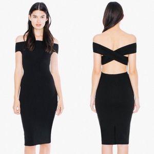 American Apparel Ponte Off Shoulder Pencil Dress